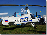 Autogyro MAI-208 on at MAKS-2015 airshow