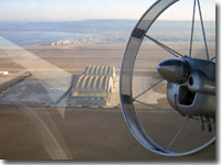 Au-30 airship over France. Nacelle view