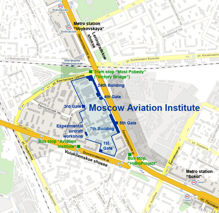 Moscow Aviation Institute Layout