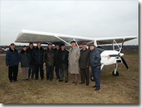 MAI management and OSKBES test team. Chyornoye airfield, Moscow reg., 2004